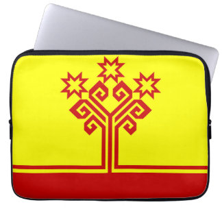 Chuvashia flag russia country republic region computer sleeve
