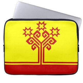 Chuvashia flag russia country republic region laptop computer sleeve