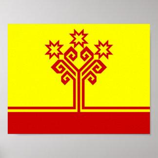 Chuvashia flag russia country republic region poster