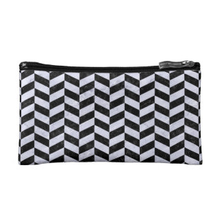 CHV1 BK-WH MARBLE COSMETIC BAGS