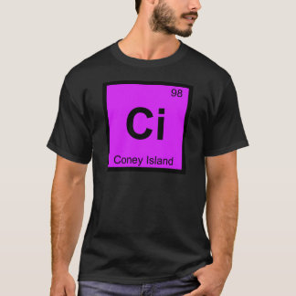 Ci - Coney Island New York Chemistry Symbol T-Shirt