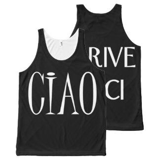 Ciao, Arrivederci All-Over Print Singlet