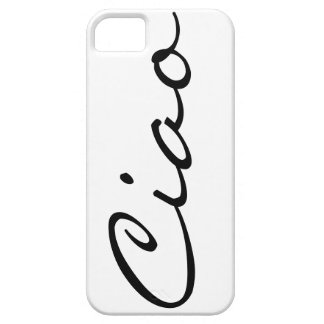 Ciao hello Italian funny hipster trendy modern Barely There iPhone 5 Case