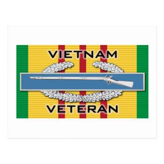 CIB Vietnam Veteran Postcard