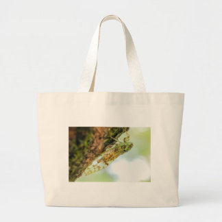 Cicada insect large tote bag