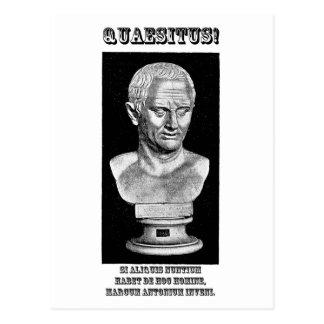 Cicero Wanted (Latin) Postcard