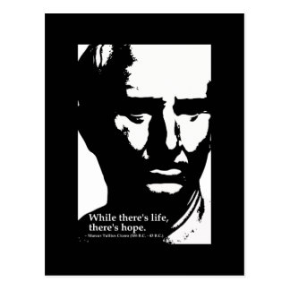 Cicero -While there's life, there's hope postcard