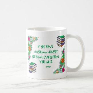 Cicero's quote on libraries basic white mug