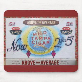 Cigar Box Vintage Label Mousepad