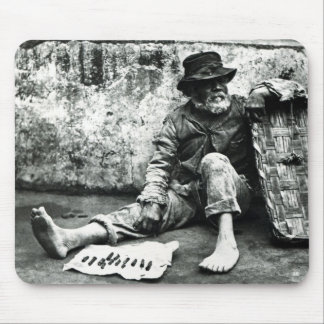 Cigar-end Seller, c,1865 (b/w photo) Mouse Pad