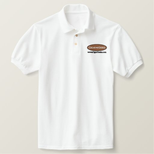 Cigar Geeks Embroidered Polo Shirt