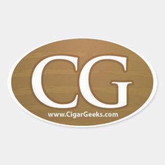 Cigar Geeks Oval Sticker