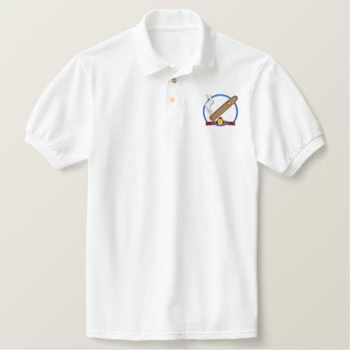 Cigar Logo Embroidered Polo Shirt