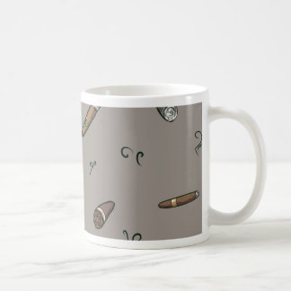Cigar Pattern Coffee Mug