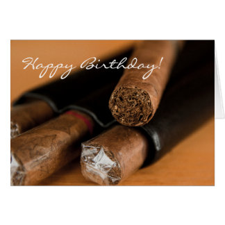 Cigar Smoker Birthday Card