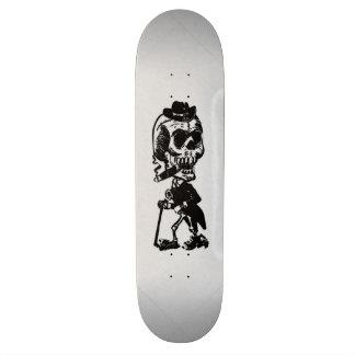 Cigar Smoking Cowboy Skeleton  Skate Board