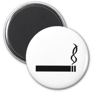 cigaret icon cigarette black 6 cm round magnet