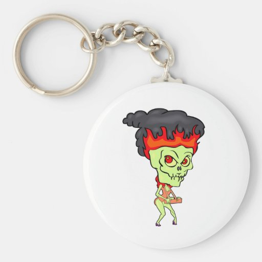 Cigarette Ghoul Key Chain
