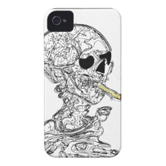 Cigarette Smoking Skeleton Case-Mate iPhone 4 Cases