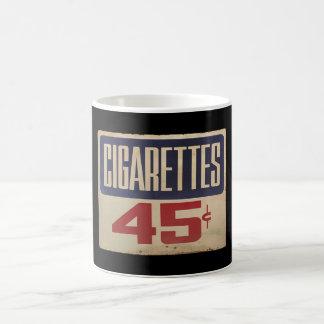 cigarettes 45¢ coffee mug