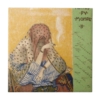 Cigarettes of the World by Raphael Kirchner Small Square Tile