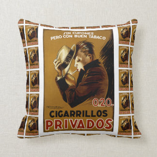 Cigarillos Privados Throw Pillow