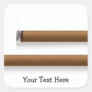 Cigars (personalized) square sticker