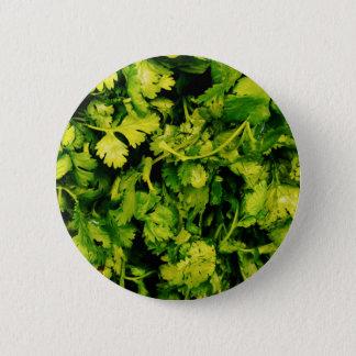 Cilantro / Coriander Leaves 6 Cm Round Badge