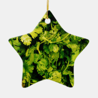 Cilantro / Coriander Leaves Ceramic Ornament