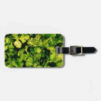 Cilantro / Coriander Leaves Luggage Tag