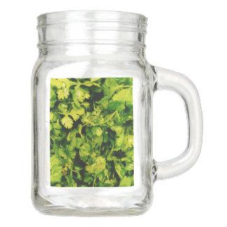 Cilantro / Coriander Leaves Mason Jar