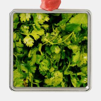 Cilantro / Coriander Leaves Metal Ornament