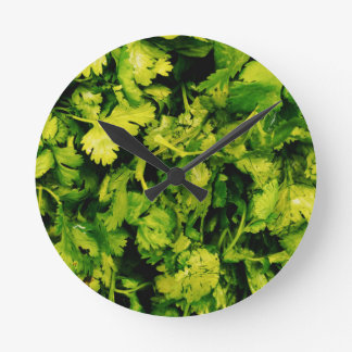 Cilantro / Coriander Leaves Round Clock