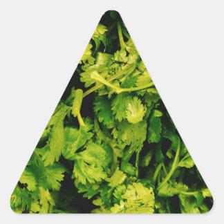 Cilantro / Coriander Leaves Triangle Sticker