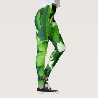 Cilantro photo leggings