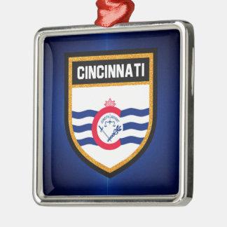 Cincinnati Flag Metal Ornament