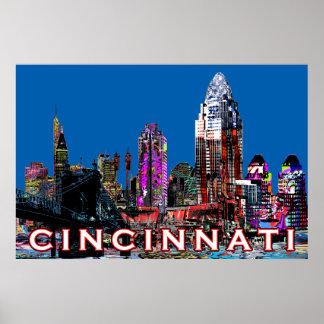 Cincinnati in graffiti poster