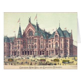 Cincinnati Music Hall 1879 Big Greeting Card