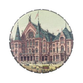 Cincinnati Music Hall 1879 Jelly Belly Tin