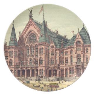 Cincinnati Music Hall 1879 Plates