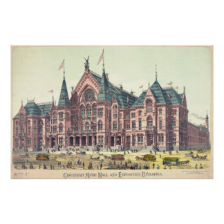Cincinnati Music Hall 1879 Poster