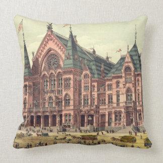 Cincinnati Music Hall 1879 Throw Cushions