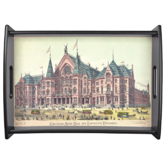 Cincinnati Music Hall 1879 Serving Trays