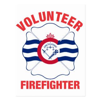 Cincinnati, OH Flag Volunteer Firefighter Cross Post Cards