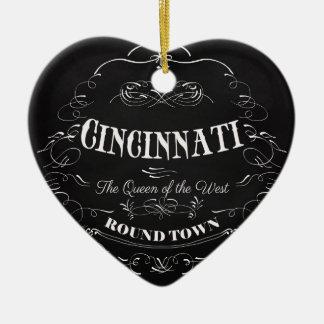 Cincinnati Ohio Art - The Queen of the West Ceramic Heart Decoration
