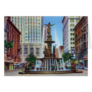 Cincinnati Ohio Fountain Square Card