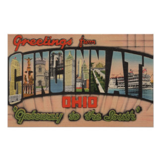Cincinnati, Ohio (Gateway to the South) Poster