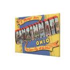 Cincinnati, Ohio - Large Letter Scenes 2 Canvas Print