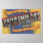 Cincinnati, Ohio - Large Letter Scenes 2 Poster