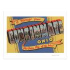 Cincinnati, Ohio - Large Letter Scenes Postcard
